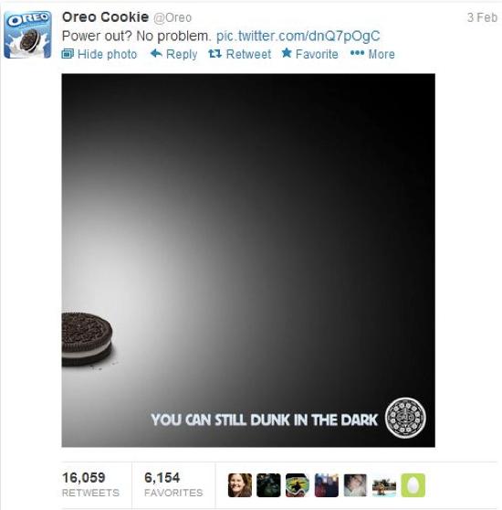 Social Media Marketing en Twitter: Oreo