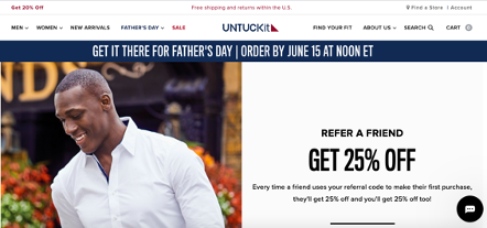 Blog-Imagen-6-tiendas-exitosas-y-tacticas-Shopify-recompensa-clientes-referidos-untuckit-home-Cliento-Jun20-Aprobado-Isaac-V2